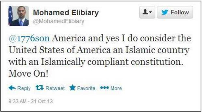 Mohamed Elibiary was appointed by Obama as a senior advisor in the Dept. of Homeland Security