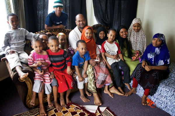 Typical size of Somali Muslim family in America, many of whom are on welfare