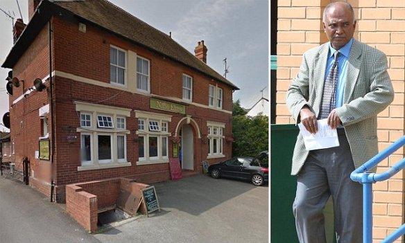 Mahbub Chowdhury appearing at Swindon Magistrates Court.