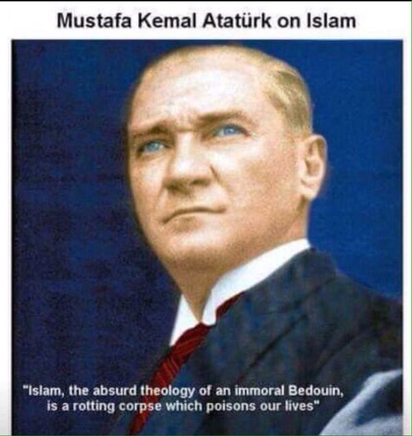 Mustafa Kemal Atatürk (1881-1938) was an army officer who founded an independent Republic of Turkey out of the ruins of the Ottoman Empire. He then served as Turkey's first president from 1923 until his death in 1938, implementing reforms that rapidly secularized and westernized the country. Under his leadership, the role of Islam in public life shrank drastically, European-style law codes came into being, the office of the sultan was abolished and new language and Western dress requirements were mandated.