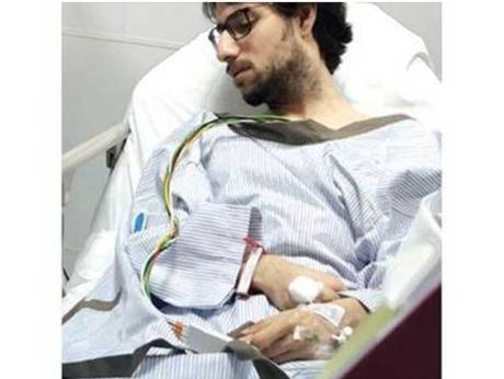 Dr Muhannad Al Zabn recuperating after the incident.