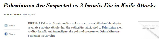 nyt Palestinian suspected