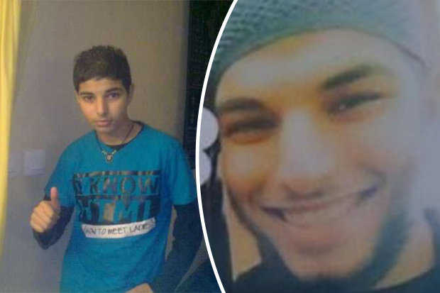 Muslim terrorist and priest killer Adel Kermiche in 2011 and now