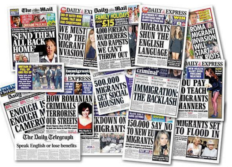 Tabloids immigration