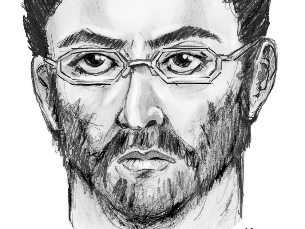 Artist sketch of suspect