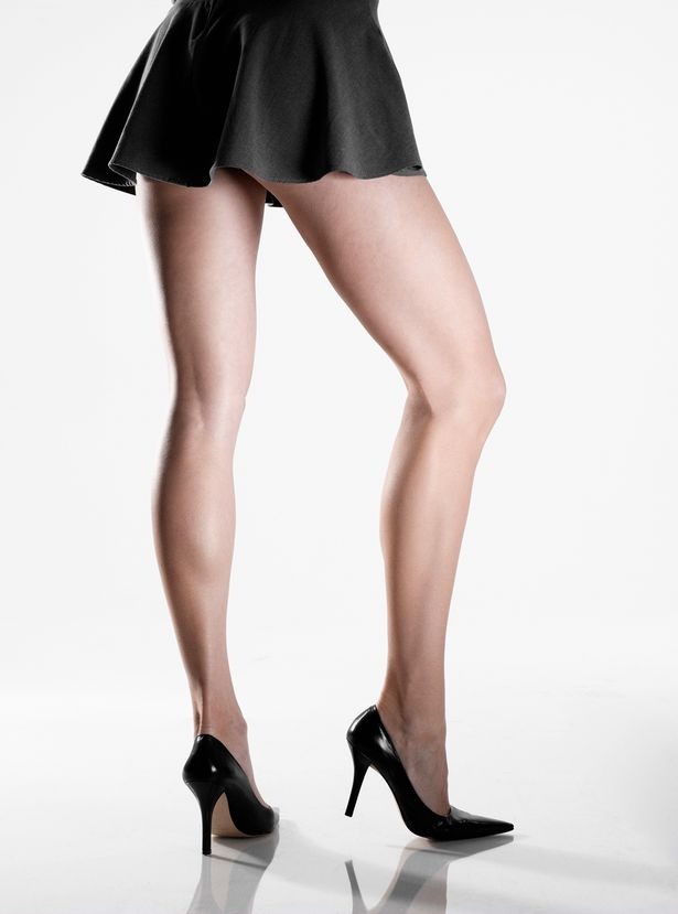 Woman-wearing-mini-skirt-and-high-heels