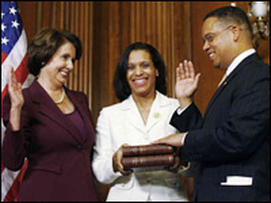 Apparently, Ellison needed to two qurans to be sworn into office