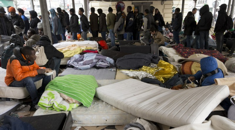 Guess the Muslim invaders will have to stay where they are for now - camped out in the streets of Paris, greeting the few tourists who are there