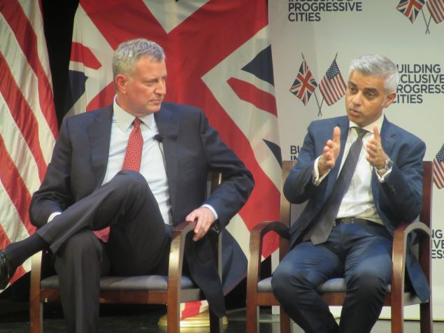 DeBlasio meets with radical Muslim mayor of London Saddiq Khan