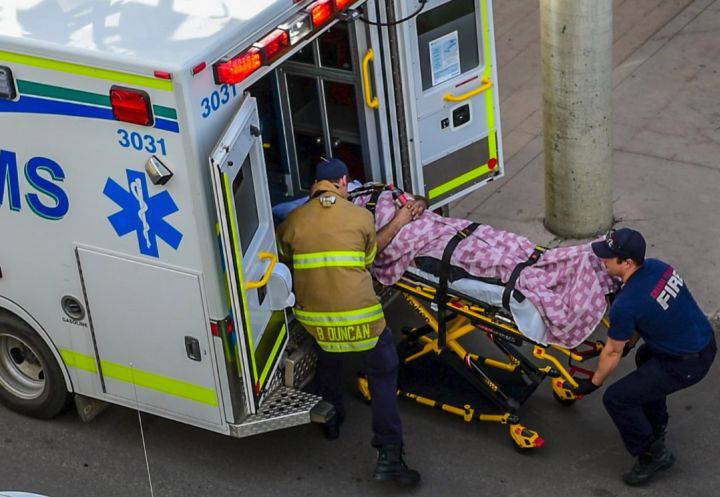 Victim of shooting loaded into ambulance