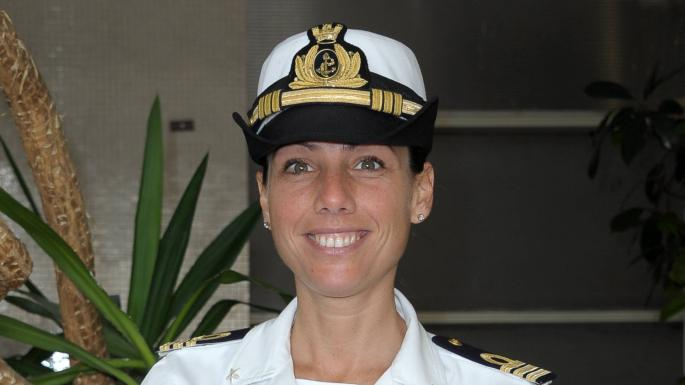 Lieutenant Catia Pellegrino, the commander of the patrol vessel Libra, who has a presidential medal of honour for rescues she's co-ordinated, is one of those suspected of mishandling the situation