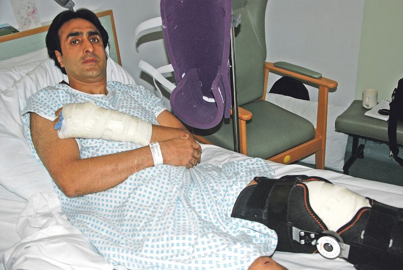 Nissar Hussain, 49, was hospitalised on 17 November with a smashed kneecap and broken arm after a violent attack which was captured on CCTV. He said he was attacked because he converted from Islam to Christianity and that his troubles started after he appeared on a Channel 4 documentary on how Islam converts are treated.