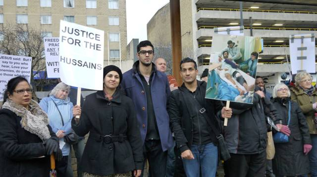 Neighbors demand justice for the persecuted Hussein family