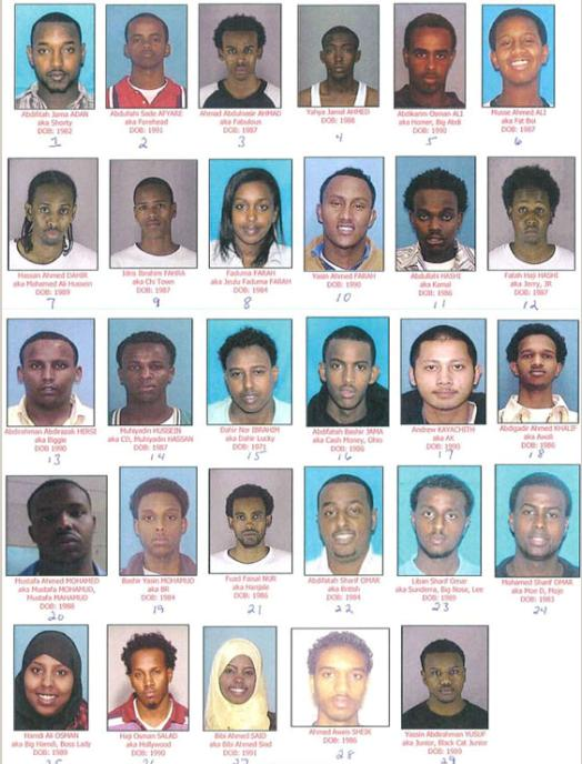 Las bandas de violación musulmanes somalíes han sido detenidos en varios estados en Estados Unidos