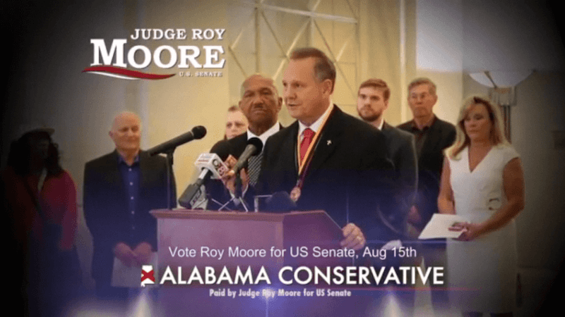 Image result for photos of judge roy moore and luther strange