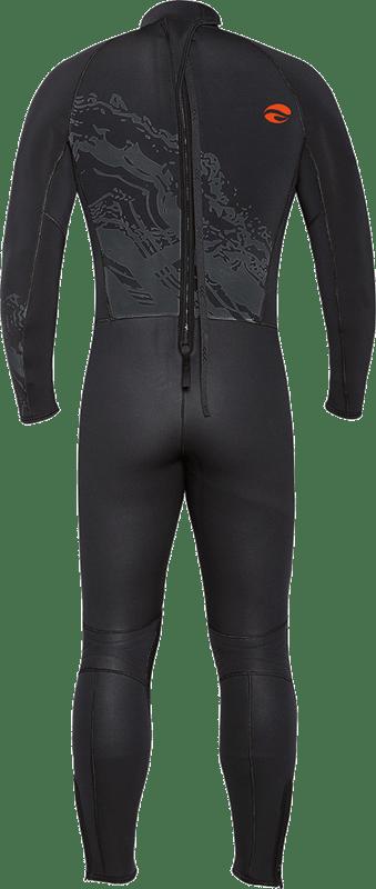 Velocity Ultra 5mm Full Wetsuit - Lava Back