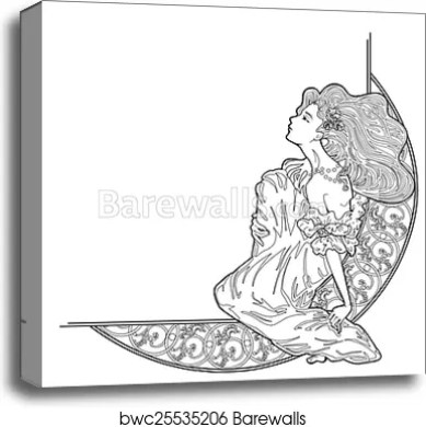 Vector Art Nouveau Decoration Canvas
