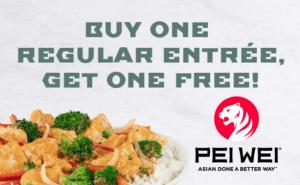 BOGO at Pei Wei ~ It's Back! | Bargain Believer