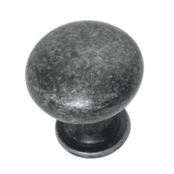 Grecian Plain Knob 30mm - Antique Black