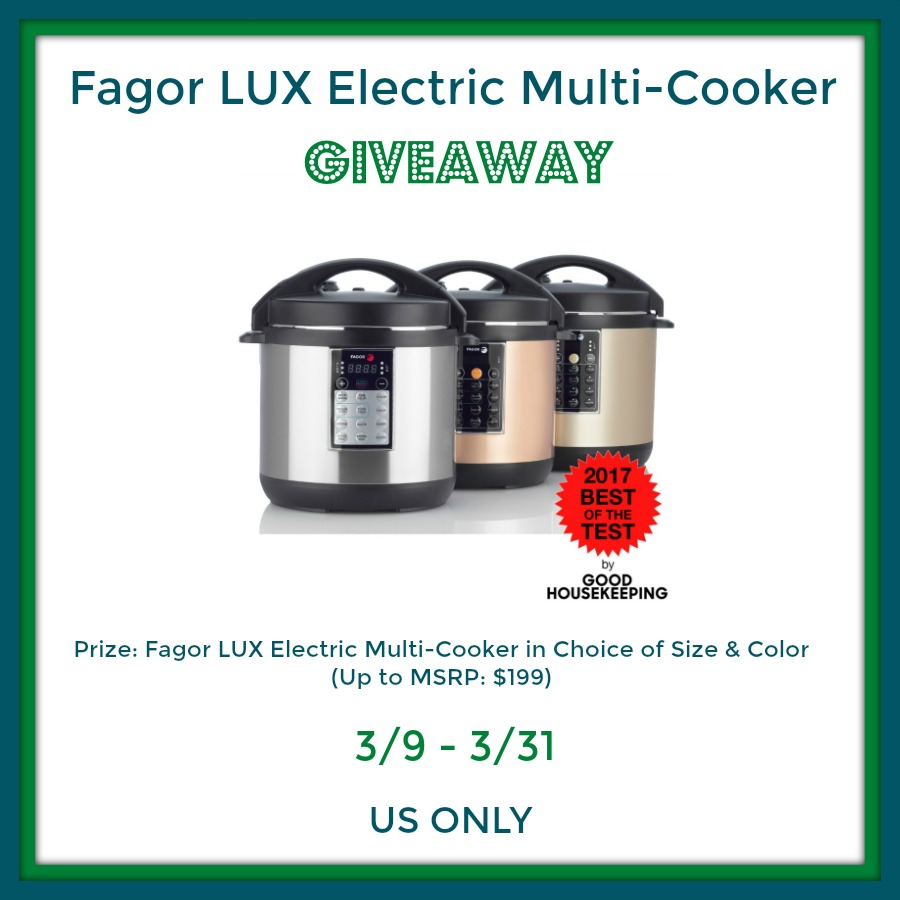 Fagor LUX Electric Multi-Cooker Giveaway! Ends 3/31