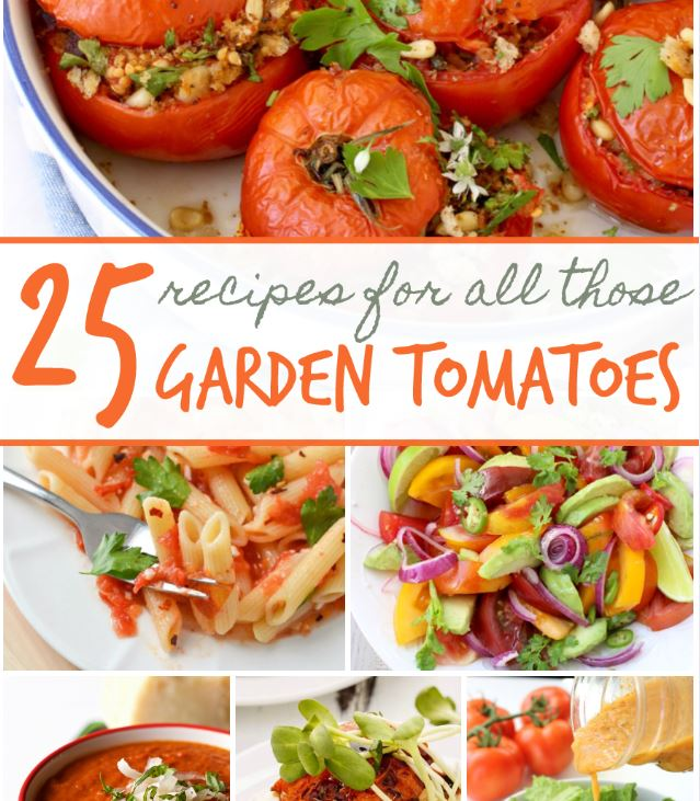 25 Recipes To Use Up All Those Garden Tomatoes