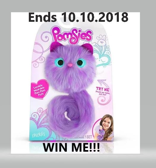 Win a Pomsies Speckles Plush Interactive Toy! Ends 10.10.2018