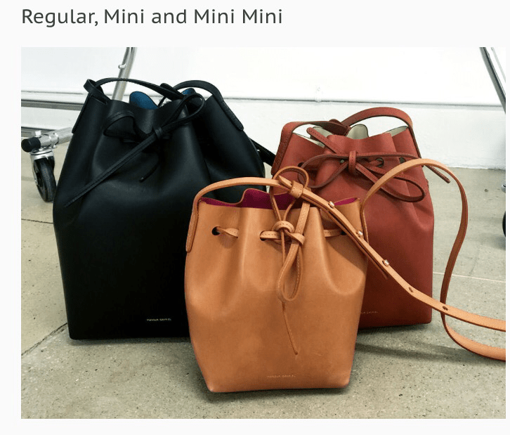 Mini Bucket in Brown Mansur Gavriel Orange 100% Original Sale Lowest Price Ls7jLE2EX