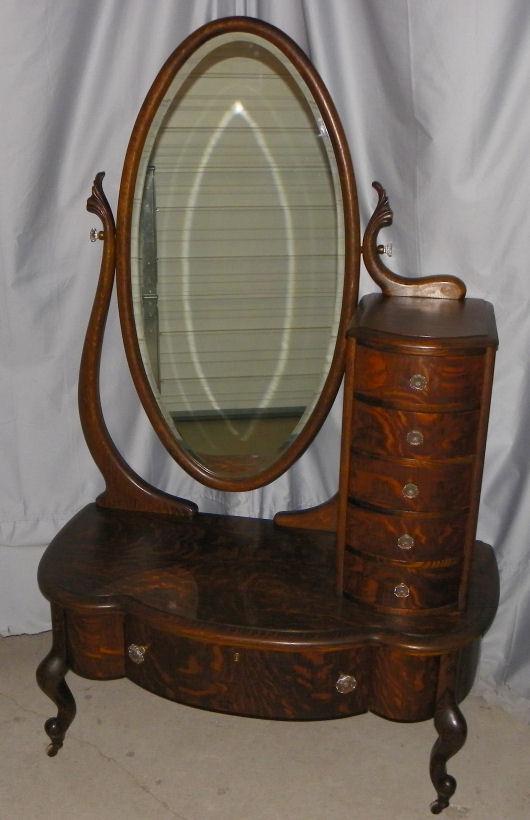 Bargain John S Antiques Rare Antique Oak Cheval Lingerie