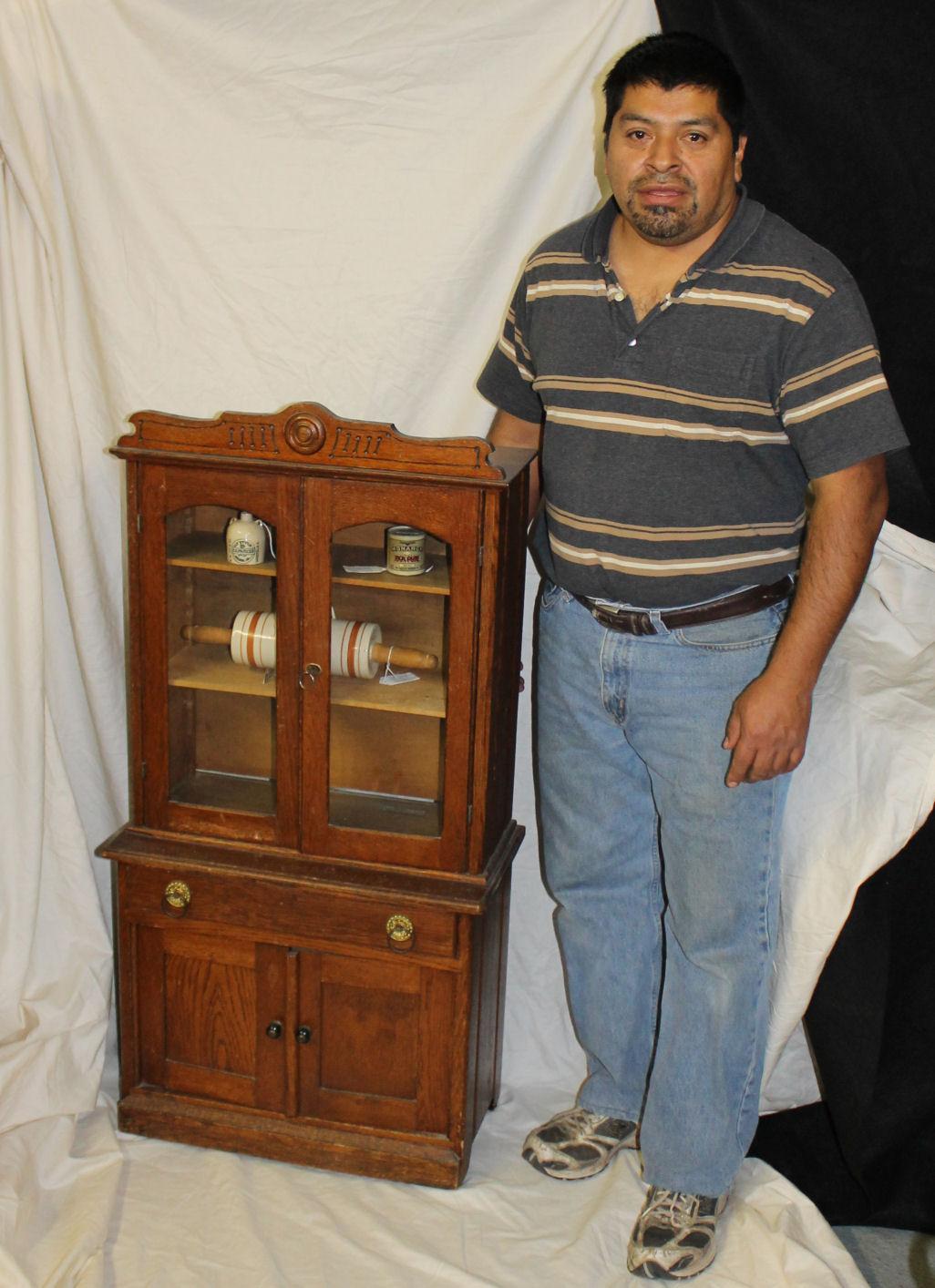 Bargain John S Antiques Antique Oak Kitchen Cupboard