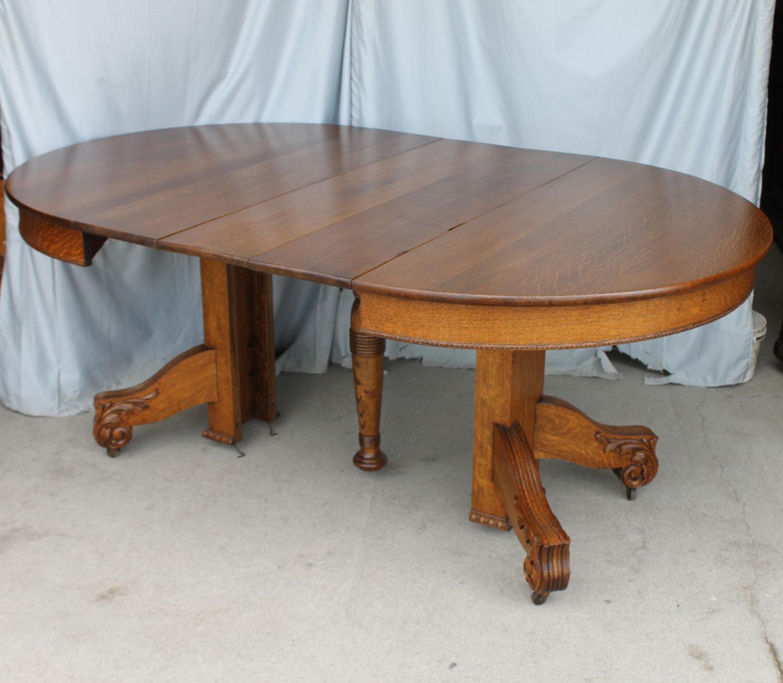 Bargain John S Antiques Antique Round Oak Dining Table