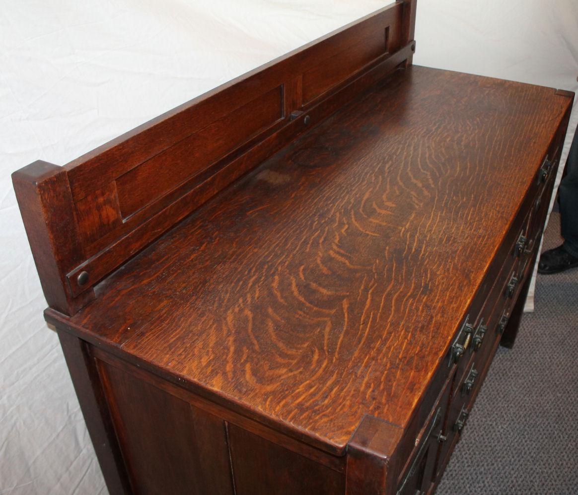 Bargain John S Antiques Antique Mission Oak Antique Sideboard Buffet Stickley Brothers Bargain John S Antiques