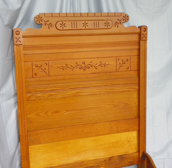 Bargain John S Antiques Victorian Antique Wood Single