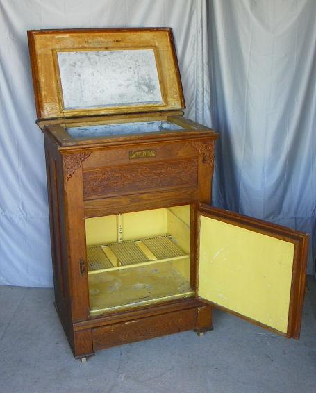 Bargain John S Antiques Antique Wood Ice Box Monarch