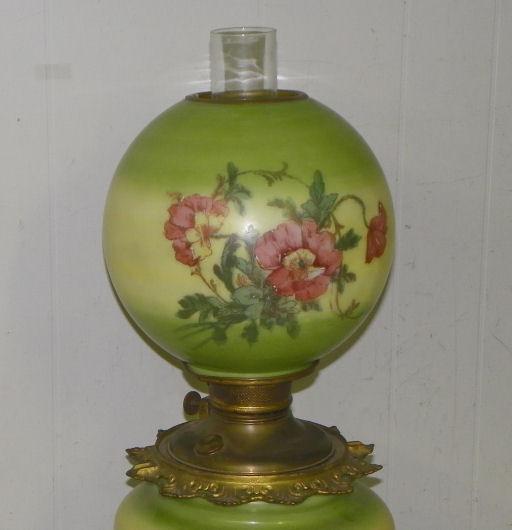 Antique Porcelain Oil Lamps