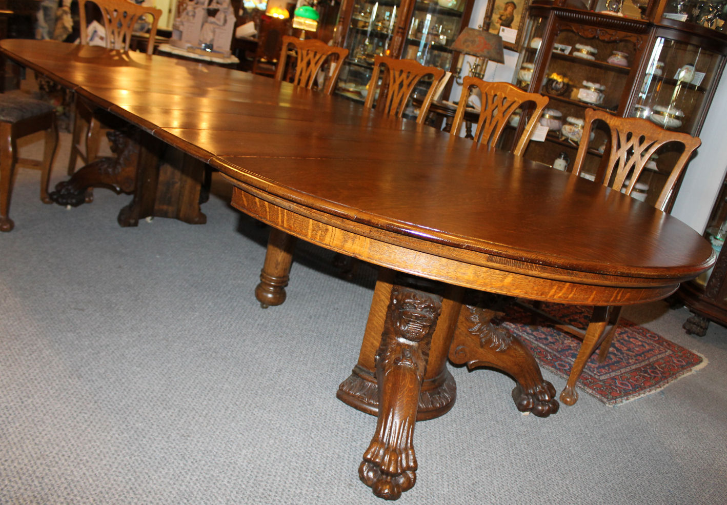 Large Round Wood Dining Table