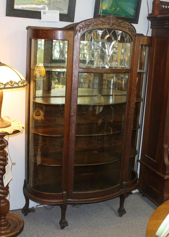 Bargain John S Antiques Antique Oak China Cabinet With