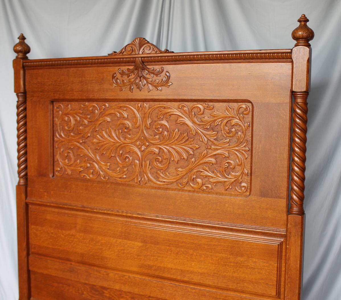 Bargain John S Antiques Antique Carved Oak Bedroom Set