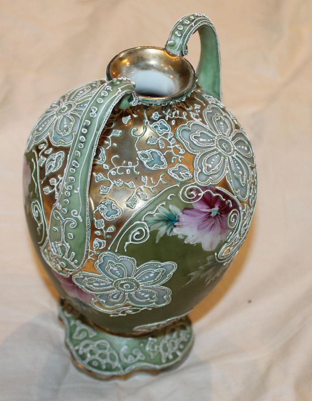 Bargain John S Antiques Nippon Moriage Porcelain Double