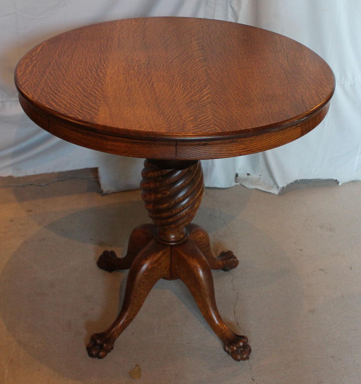 Bargain Johns Antiques Antique Oak Round Parlor Table