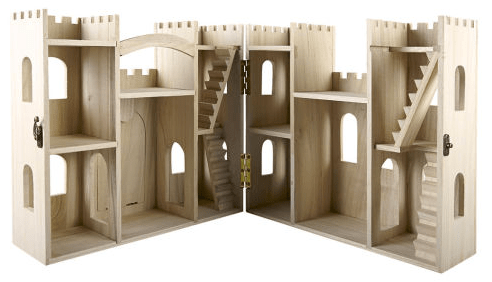 DIY Gift On A Budget Make Your Own Wood Castle Dollhouse