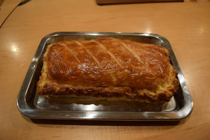 Salmon and spinach pie