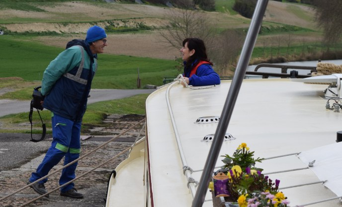 The lock keepers (eclusiers) are a friendly bunch on the Canal du Midi