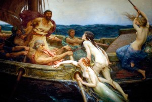 Odysseus and the Sirens by Herbert James Draper, c. 1909.