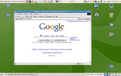 Internet Explorer 6 on Linux