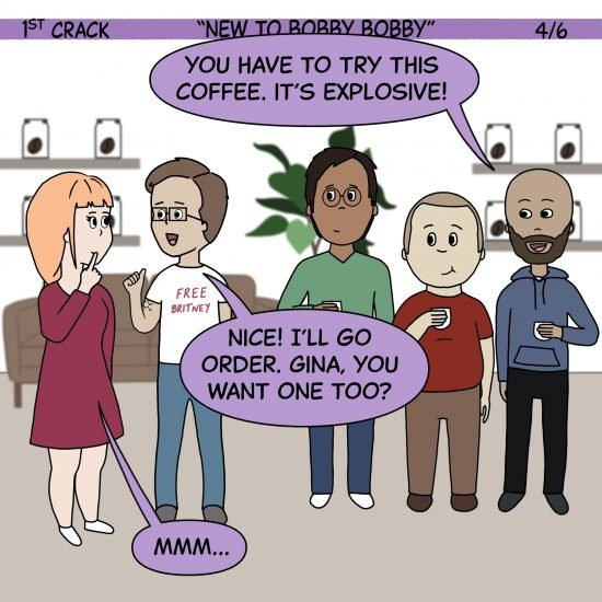 1er cómic de Crack Coffee 1 de mayo de 2021 Panel 4