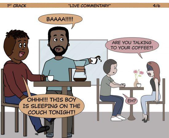 Primer cómic de Crack a Coffee para el fin de semana - 19 de junio de 2021 Panel 4