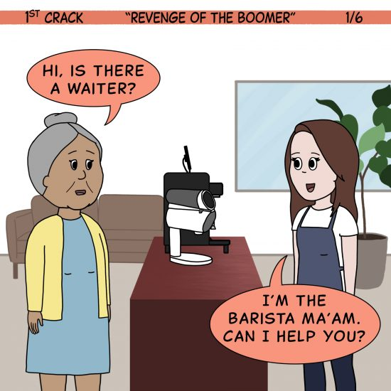 Primer cómic de Crack a Coffee para el fin de semana - 17 de julio de 2021 Panel 1