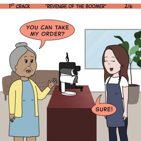 Primer cómic de Crack a Coffee para el fin de semana - 17 de julio de 2021 Panel 2