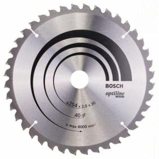 BOSCH Körfűrészlap Optiline Wood 254X30-40 Minden termék