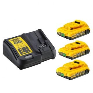 DeWALT XR 10.8-18V akku töltő + 3db DB183 akku Minden termék